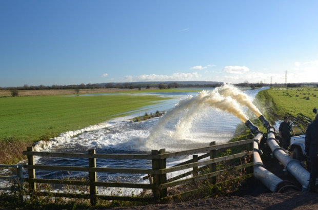Somerset Levels pumping operation