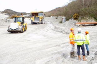China clay deposits turn everything white
