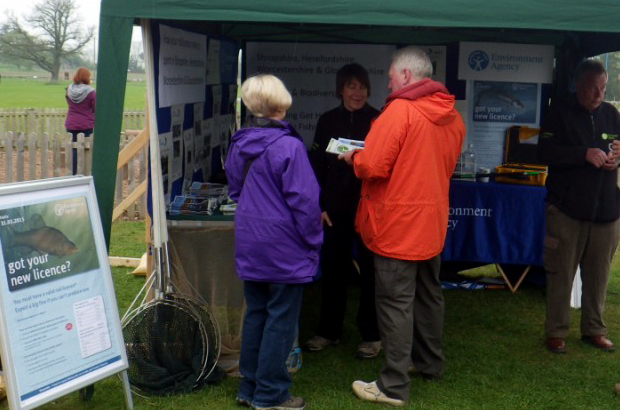 Chatting with schools, community groups and youngsters to promote angling