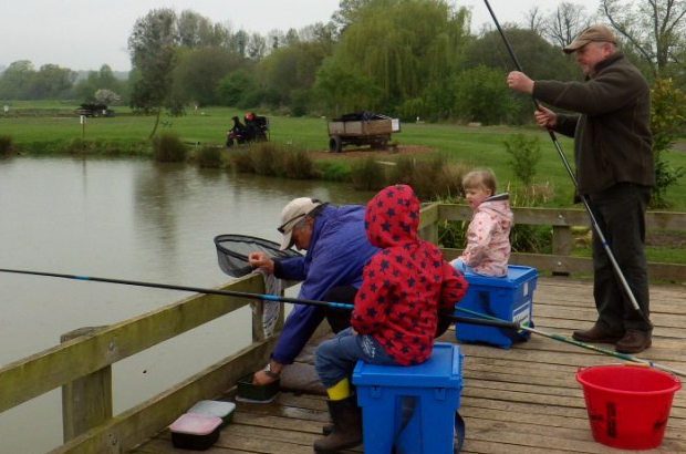 Around 70 children were taught how to fish, as part of 30-minute taster sessions