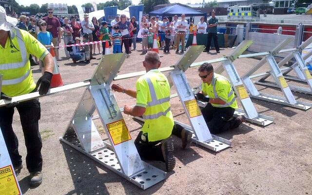 'How long does it take to put up a flood defence' competition!