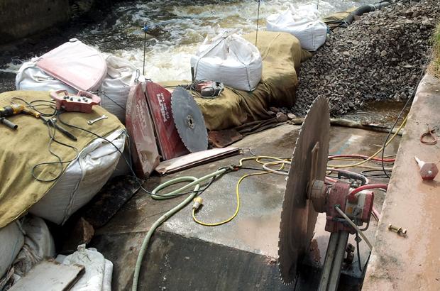 Larnier fish pass under construction