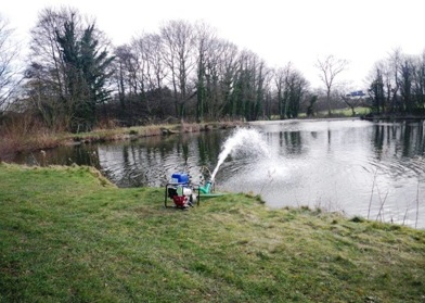 Hydrogen peroxide pumps deployed to increase oxygen levels in the water