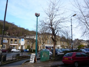 The siren in the middle of Hebden Bridge