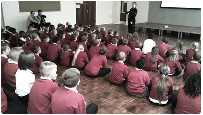 Teaching the next generation is vital to promoting flood awareness. Here we are at a local school in Stockton on Tees