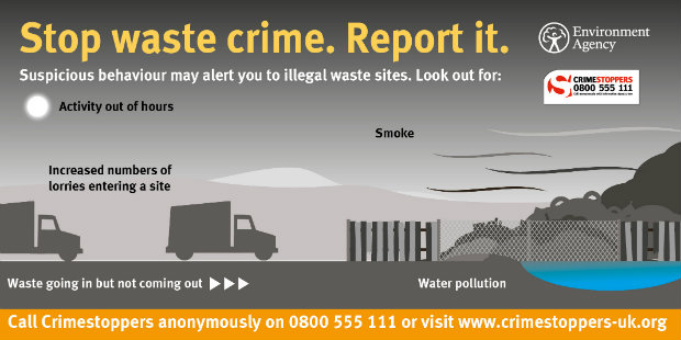 signs to spot an illegal waste site