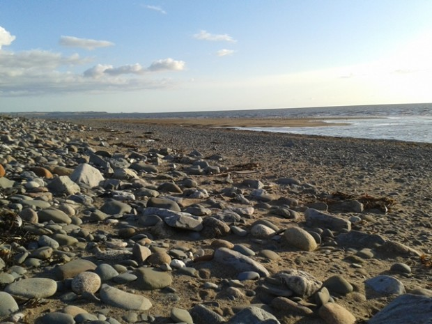 The bathing waters at Allonby