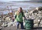 Love My Beach co-ordinator Emma McColm from Morecambe Bay Partnership