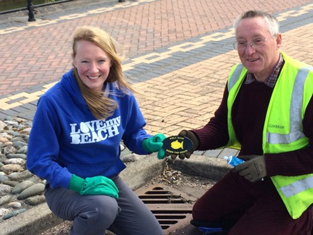 Emma McColm and Archie Workman (a drainsman who volunteered his time to help)