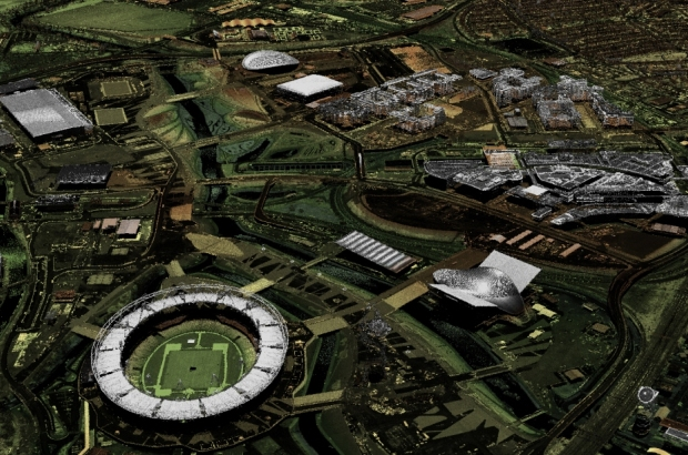3D rendered image of the olympic site