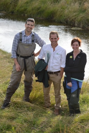 Dan Brazier (Eden Rivers Trust), Olly Southgate (Environment Agency) and Becky Grey (Natural England)