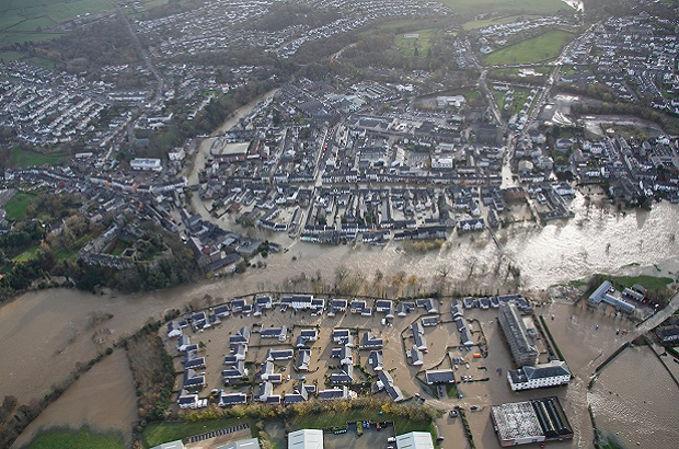 Cockermouth floods aerial 4