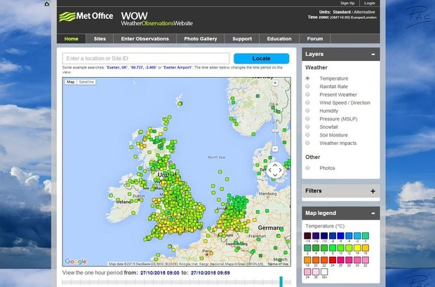 Met Office Weather Observation Website
