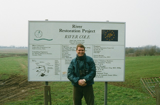 Blog Alastair Driver at River Cole restoration project in late 1995