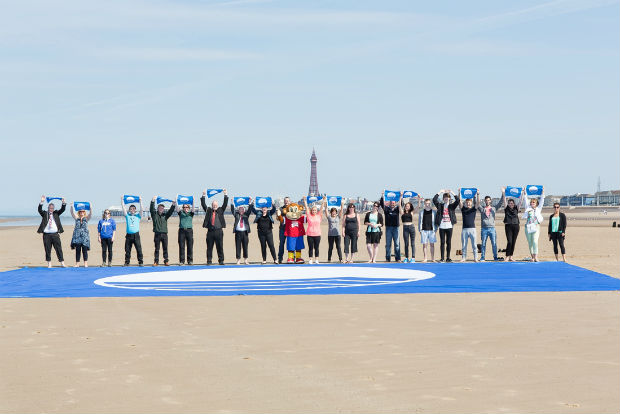 Blackpool beach awarded first Blue Flag Award