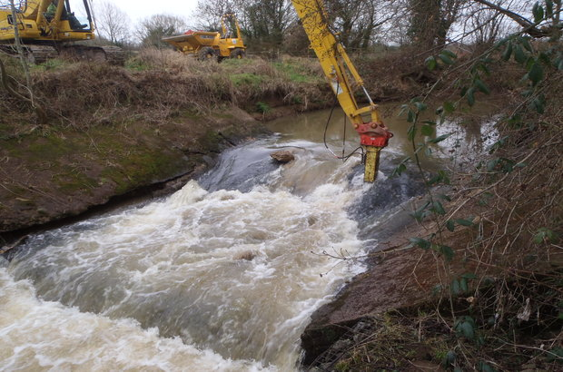 Start of weir removal