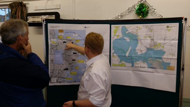 Explaining flood risk at a public drop in