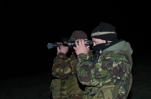 Environment Agency enforcement teams out on patrol and using specialist night vision
