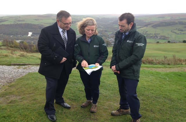 A visit to Calderdale to launch the flood action plan