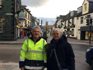 Graham and Carol in Keswick