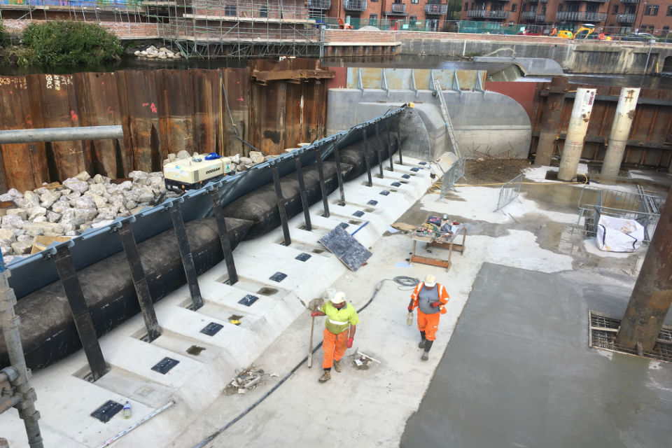 The Environment Agency is looking for new suppliers to work on vital projects, such as the Leeds flood defence seen here