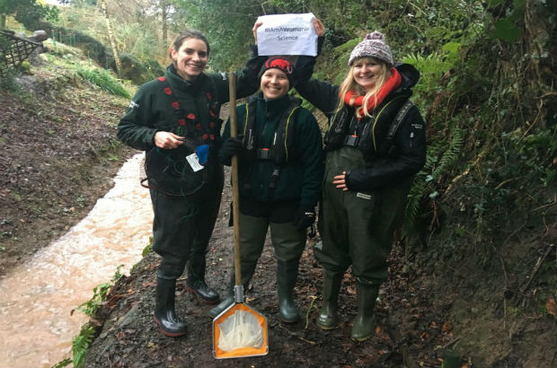 The fisheries, biodiversity and geomorphology (FBG) team in the field