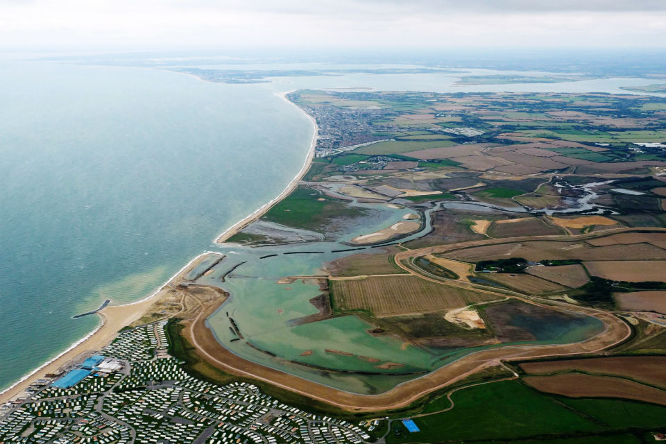 The Medmerry managed realignment scheme is a good example of a major sea defence that uses natural flood management