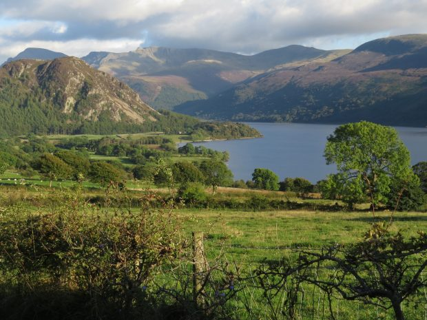 A view of Ennerdale, in the North West Lake District with farmland in the foreground