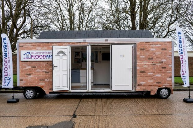 trailer that has been adapted with flood resilient measures