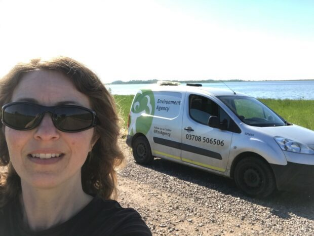 picture of Environment Agency officer beside water