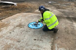 EA officer setting up a drone